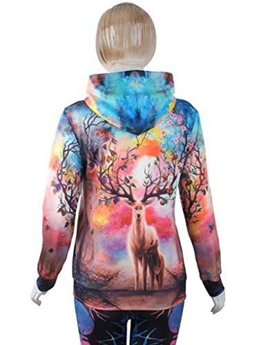 Belsen Damen Kapuzenpullover mehrfarbig schokoladenbraun Large elk