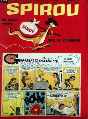 Gaston Lagaffe 12 - SPIROU [No 1289] du 27/12/1962 - GASTON