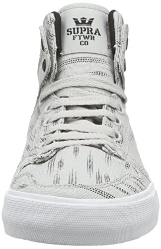 Supra Vaider D, Sneakers Hautes mixte adulte Gris (LIGHT GREY PRINT / BLACK - WHT LGP)