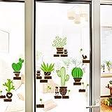 Wandtattoos WandbilderWohnzimmer Eingang grüne Pflanze Kaktus Topf abnehmbar Tapeten Schlafzimmer Schreibtisch Wand Aufkleber Zeichnung Ideen Aufkleber 135 * 45cm