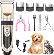 Mumoo Bear Dog Shaver Clippers Low Noise Rechargeable Cordless Electric Quiet Hair Clippers Set for Dogs Cats