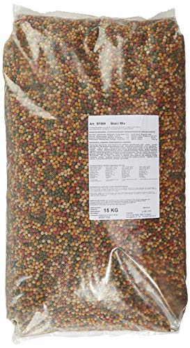 AquaForte Hochwertiges Basis Fischfutter, 15 kg (± 40 Liter), Medium Pellets (6 mm)