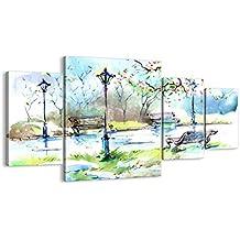 Cuadro sobre lienzo - 4 piezas - Impresión en lienzo - Ancho: 160cm, Altura: 90cm - Foto número 3035 - listo para colgar - en un marco - DL160x90-3035