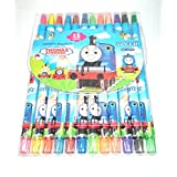 Kids Colorful Twist Up Smooth Rolling Crayons : Pack Of 12 (Thomas)