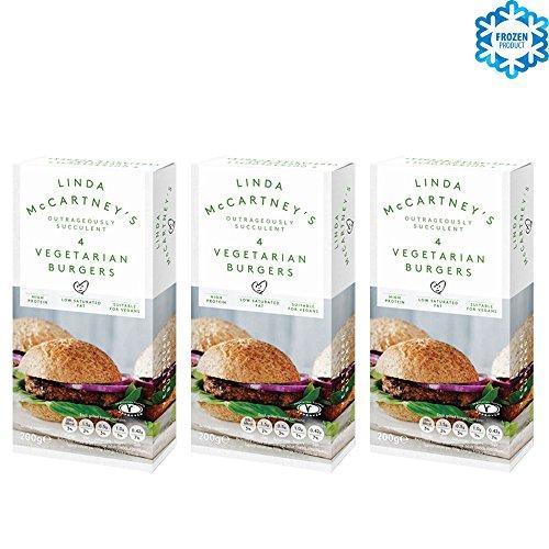 LINDA McCARTNEY Hamburguesas Vegetarianas Veganas Pack de 3