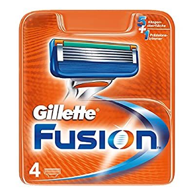 Gillette Fusion5 Razor Blades for Men with 5 Anti-Friction Blades for A Shave You Barely Feel, 4 Refills (Packaging May Vary)