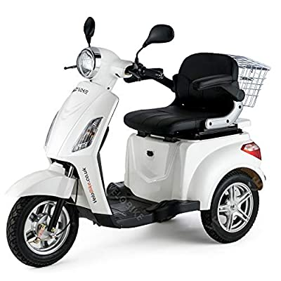 VELECO ZT15 3 Wheeled ELECTRIC MOBILITY SCOOTER 900W (White)