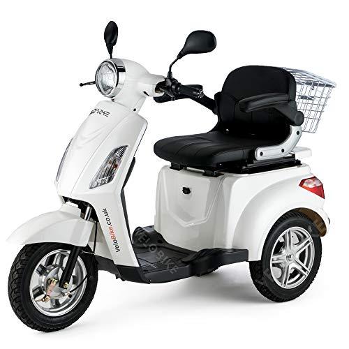 Elektromobil, Scooter elettrico, veicolo,scooter per anziani ed disabili, Senior, triciclo, 25 km/h BIANCO