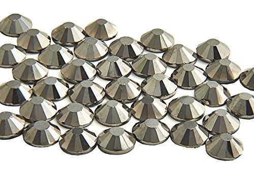EIMASS® Strasssteine - Kristalle, Flache Rückseite, DMC, kein Hotfix-Glas, 1440 Stück, - Hematite Gunmetal - Größe: 4,8 mm