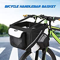 Lixada Bicycle Handlebar Basket Bike Front Bag Box Pet Dog Cat Carrier
