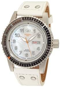 Vestal - 10FTH005 - Montre Homme - Automatique - Analogique - Bracelet cuir Blanc