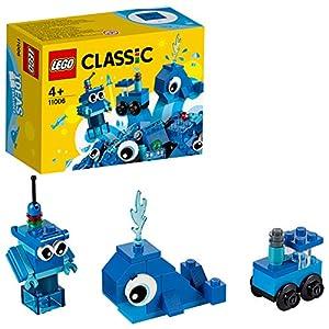 LEGO Classic - Ladrillos Creativos Azules, Juguete de Construcción con Ladrillos de Colores para Desarrollar la Imaginación, Recomendado a Partir de 4 Años (11006)