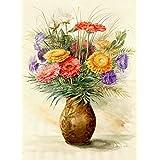 "Kunstdruck nach Aquarell: ""Blumen (6)"""