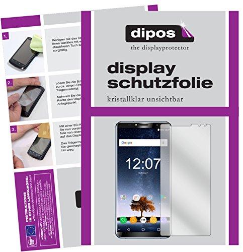 dipos I 6X Schutzfolie klar passend für Oukitel K6 Folie Bildschirmschutzfolie