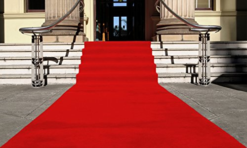 Rot Eventteppich VIP Carpet Läufer Teppich Empfangsteppich in Breite 1 m und Länge 10 m