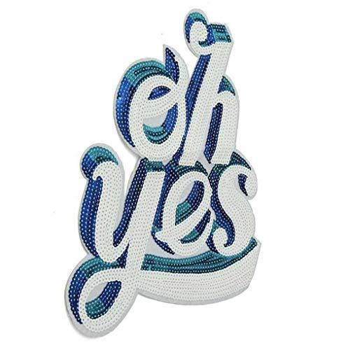 Cdrox Stickerei Kleidung Paste Englisch Letters Applikationen Kostüm Sweater Dekorative Aufnäher DIY Supplies (Kostüme Coole Diy)