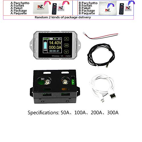 DC 120V 50A 100A 200A 300A Wireless amperometro tensione KWh Watt Meter batteria per auto coulombometro capacità di monitoraggio tester Potere W329,300A
