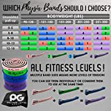 Physix Gear Pull Up Assist Bands - Best Heavy Duty Resistance Band for Assisted Pullups, Muscle Toning, Legs Glutes Crossfit Physical Therapy Stretch Pilates & Yoga - Improve Mobility & Strength -4SET - 6