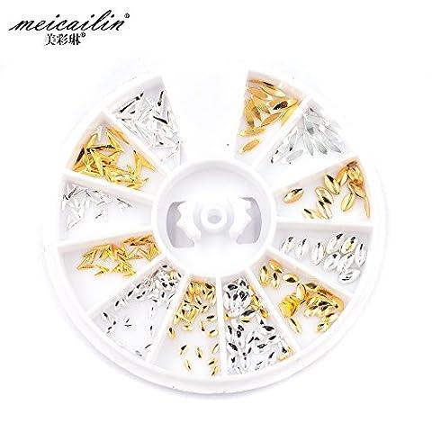 1Set Mix Design Legierung Nail Art Dekoration Rad Set DIY Beauty Charm Nail Tools