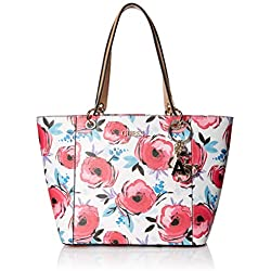 Guess Kamryn, Bolso tipo tote para Mujer, Multicolor (Floral), 15x26.5x42 centimeters (W x H x L)