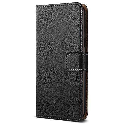HOOMIL Handyhülle für Samsung Galaxy Note 8 Hülle, Premium PU Leder Flip Schutzhülle für Samsung Galaxy Note 8 Tasche, Schwarz