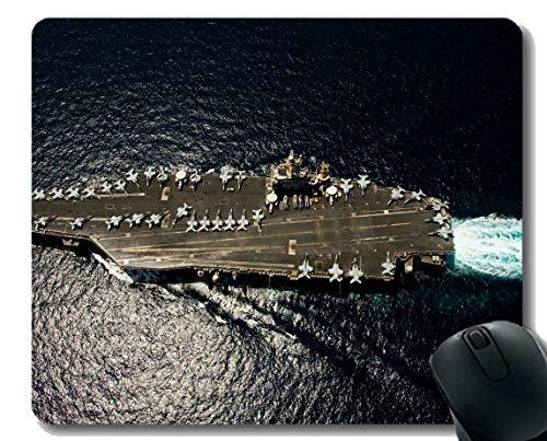 Mauspad mit genähtem Rand, Militär USS Abraham Lincoln (CVN 72) Kriegsschiff Rutschfeste Gummi-Gaming-Mauspad - Lincoln-puppe
