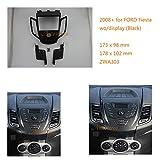 zwnav Radioblende Armaturenbrett-Autoradio komplett Montage von Kit für Ford Fiesta 2008+ WO/Display (schwarz) Auto Radio Adapter-INDASH Rahmen