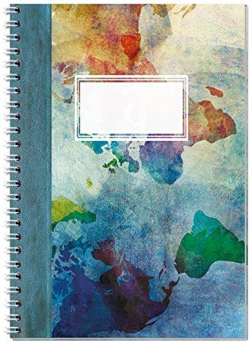 """Notizbuch A5 """"Reisetagebuch"""" mit Spiralbindung // A5 Ringbuch liniert mit 120 Seiten // Notizheft mit Spiralbindung // Von Sophies Kartenwelt"""