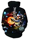 AIDEAONE 3D Galaxie Planeten Hoody Langarm Fleece Pullover Hoodies für Herren und Damen