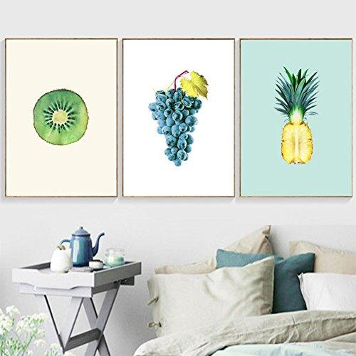 bdrsjdsb Nordic Trauben Ananas Kunst Wandbehang Gemälde ungerahmt Home Wohnzimmer Cafe Dekor Geschenk 2# 30 cm x 40 cm Cafe Küche Dekor