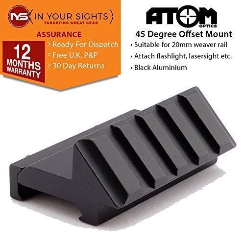 Atom Optics 45 Grad Offset 20mm Weaver Schiene Zubehörteil Halterung Anzug Laser, Taschenlampen Usw (Weaver-schiene Halterungen)