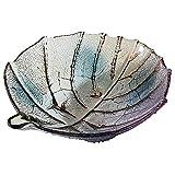 Obstschale Kristallglas Candy Dish, Obstkorb Platte Blätter Modellierung Wohnaccessoires