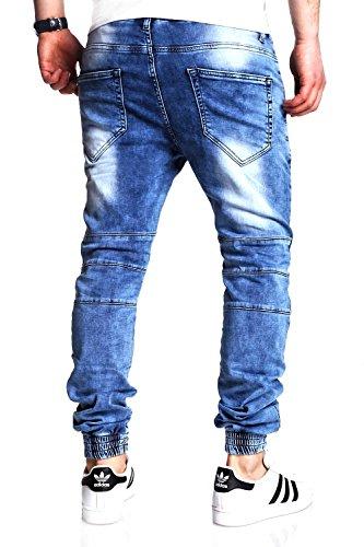 MT Styles Jogg-Jeans Biker RJ-2082 [Hellblau, W32] - 2