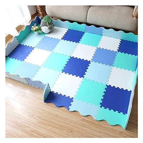 WAJIEFD Puzzlematte Schaumstoffmatte Baby-Krabbeldecke Mit Zaun Puzzle-Schutzmatten Mehrfarbiger Eva Wohnzimmer, 6 Farben (Color : B, Size : 30X30X1.4CM-25PCS)