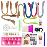 #7: VIPRA 19 Piece Quilling Tools Kit with 800 papers