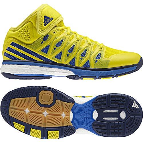 adidas Herren Energy Volley Boost Mid Volleyballschuhe, Gelb (Amabri/Azul/Azumis), 45 1/3 EU