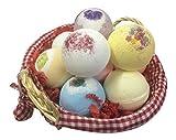 Badekugel Heaven Geschenk Korb with 10 Badebomben (160g each) Ideal für Muttertag, Ostern oder Geburtstage