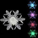 Multi color, Weihnachtsdekoration, LED, Mit Saugfuß, Schneeflocken