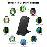 Cargador inalámbrico rápido para Samsung iPhone, HuiHeng Cargador Qi inalámbrico de carga rápida con 2 bobinas para Samsung S8, S8 Plus, S7 / Edge, S6 Edge Plus, nota 5, carga inalámbrica estándar para iPhone X iPhone 8 iPhone 8 Plus y más Qi-Enabled dispositivos