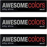 3x Sexyhair AWESOMEcolors Silky Shine Haarfarbe 60ml 66/43 Dunkelblond Intensiv Rot-Gold