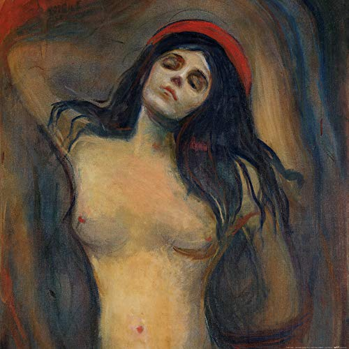 1art1 102421 Edvard Munch - Madonna, 1894-1895 Poster Kunstdruck 70 x 70 cm -