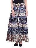 #10: Bottom Line Women's Cotton Stylish Printed Multi Color Plazo (Free Size,Assorted Design in Multi-Coloured)