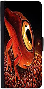 Snoogg One Eyed Sea Creatur 2674 Graphic Snap On Hard Back Leather + Pc Flip ...