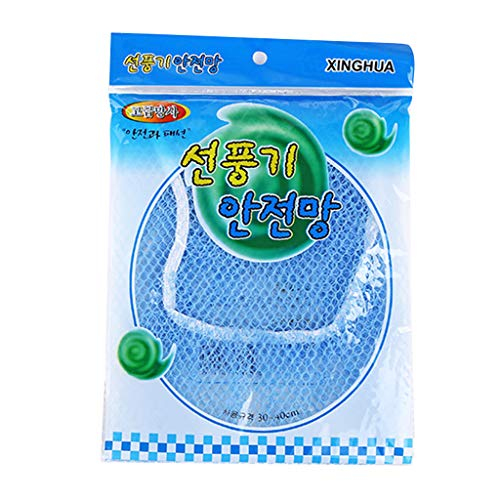 ruiruiNIE Kinder Kids Guard Mesh Fan Schutzhülle Verhindern Sie Baby Finger Safety Goods Staubdicht - Blau - Motor Fan Guard