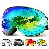 Glymnis Skibrille Snowboard Brille Schneebrille Doppel-Objektiv Schutzbrillen...