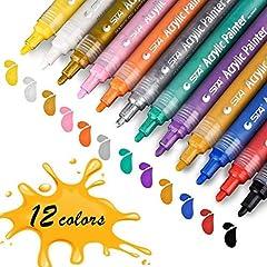 Idea Regalo - Vernice Acrilica Penne, STA Vernice Permanente (12 colori)