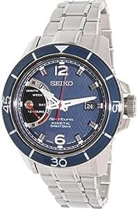 Seiko - SRG017P1 - Montre Homme - Automatique Analogique - Cadran Bleu - Bracelet Acier Argent