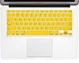 """Laprite - Yellow Color Keyboard Cover Silicone Skin for MacBook Air 11.6"""" Models ( A1370 & A1465 ) - Yellow"""