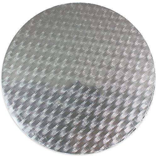 PME CBR839 Support Rond à Gâteau d'Epaisseur, Plastique, Argent, 15 x 1,1 x 15 cm