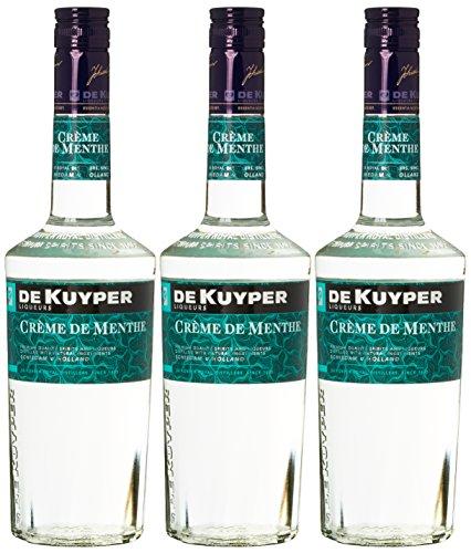 De Kuyper Crème de Menthe Minzlikör Weiß (3 x 0.7 l) - Sirup Triple Sec